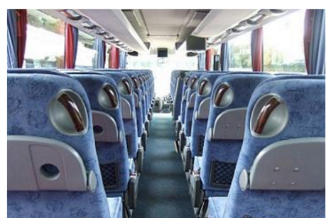 Coach Hire Ireland coach interior